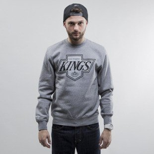 Mitchell & Ness bluza crewneck Los Angeles Kings heather grey Team Logo