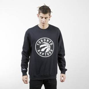 Mitchell & Ness bluza crewneck Toronto Raptors black Black and White Logo