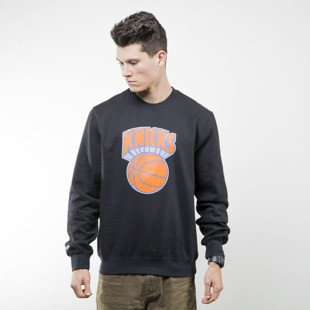 Mitchell & Ness bluza sweatshirt New York Knicks crewneck black TEAM LOGO