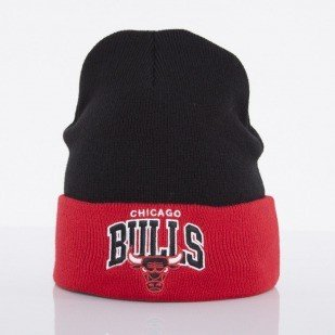 Mitchell & Ness czapka Chicago Bulls black Arched Cuff Knit EU349