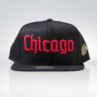 Mitchell & Ness czapka snapback Chicago Blackhawks black GOTHAM CITY VW50Z