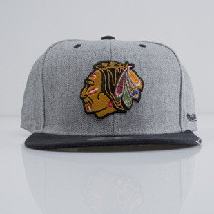 Mitchell & Ness czapka snapback Chicago Blackhawks heather grey EU438 BACKBOARD
