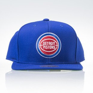 Mitchell & Ness czapka snapback Detroit Pistons blue WOOL SOLID NZ979