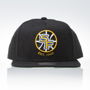 Mitchell & Ness czapka snapback Golden State Warriors black WOOL SOLID NT78Z
