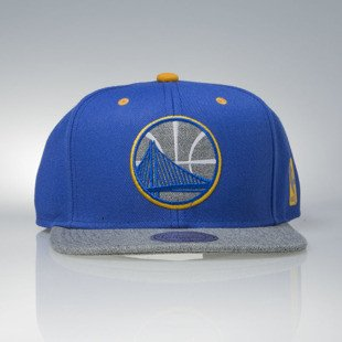 Mitchell & Ness czapka snapback Golden State Warriors blue / grey Greytist EU938