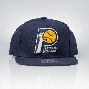 Mitchell & Ness czapka snapback Indiana Pacers navy WOOL SOLID NL15Z