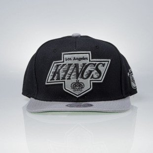 Mitchell & Ness czapka snapback Los Angeles Kings black XL LOGO 2TONE NJ27Z