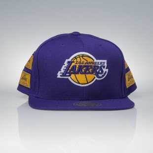Mitchell & Ness czapka snapback Los Angeles Lakers purple Dynasty VP12Z