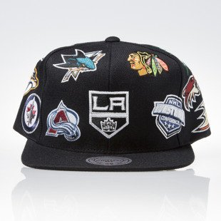 Mitchell & Ness czapka snapback NHL Western black ALL OVER EU879