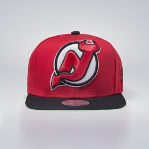 Mitchell & Ness czapka snapback New Jersey Devils red XL LOGO 2TONE NJ27Z