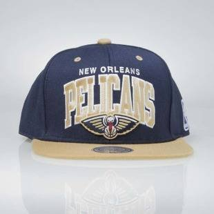 Mitchell & Ness czapka snapback New Orleans Pelicans navy / sand NA80Z TEAM ARCH