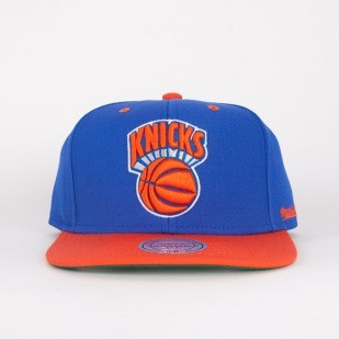 Mitchell & Ness czapka snapback New York Knicks blue / orange Flipside
