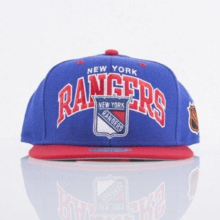 Mitchell & Ness czapka snapback New York Rangers  blue / red Team Arch ND12Z