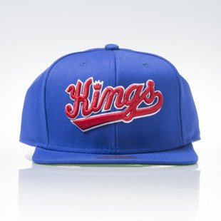 Mitchell & Ness czapka snapback Sacramento Kings blue WOOL SOLID NZ979