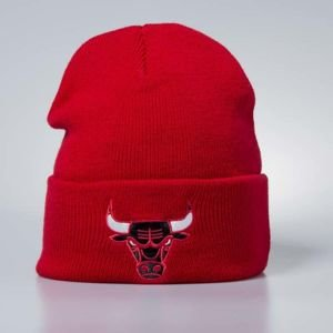 Mitchell & Ness czapka zimowa Chicago Bulls red Team Logo Cuff