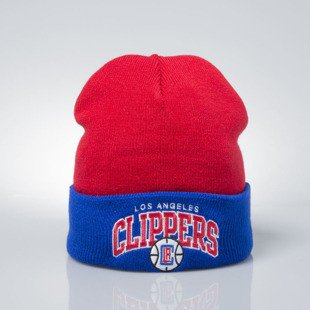 Mitchell & Ness czapka zimowa Los Angeles Clippers red / blue EU349 ARCHED CUFF KNIT
