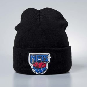 Mitchell & Ness czapka zimowa New Jersey Nets black Team Logo Cuff
