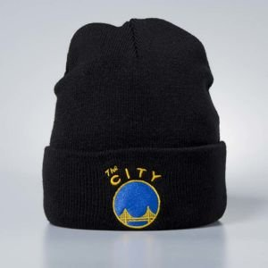 Mitchell & Ness czapka zimowa San Francisco Warriors black Team Logo Cuff