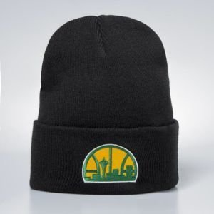 Mitchell & Ness czapka zimowa Seattle SuperSonics black Team Logo Cuff