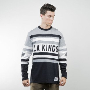 Mitchell & Ness koszulka longsleeve Los Angeles Kings grey heather / black NHL OPEN NET