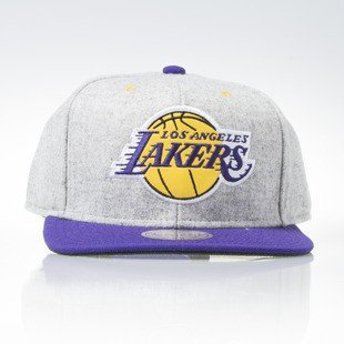 Mitchell & Ness snapback czapka Los Angeles Lakers grey heather / purple Melange Flannel EU912