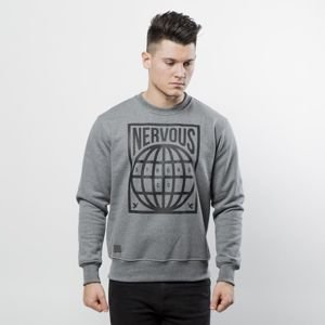 Nervous bluza crewneck Map grey