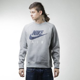 Nike bluza swetshirt Crew-Air Heritage heather grey (727385-063)