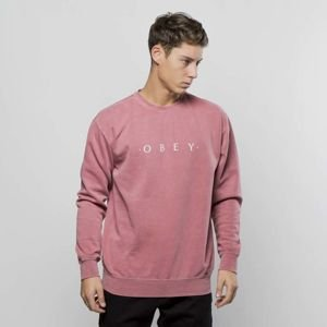 Obey bluza sweatshirt Novel Obey dusty dark rose