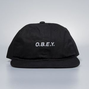 Obey czapka Barrage 6 Panel Snapback black