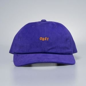 Obey czapka Cutty 6 Panel Snapback purple