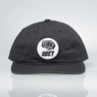 Obey czapka Fist 6 Panel Hat black