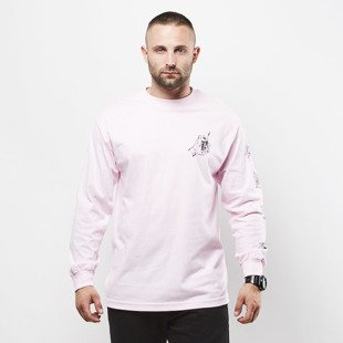Obey koszulka longsleeve Obey Tropical Casualty pink