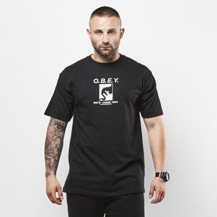 Obey koszulka t-shirt Obey Wake Up Consume Repeat black