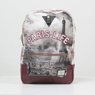 Plecak Cayler & Sons WL Paris Life Uptown Backpack maroon / mc