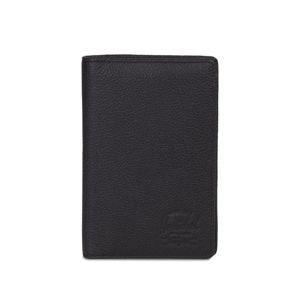 Portfel Herschel Search Passeport Holder Leather black pebbled 10399-00001