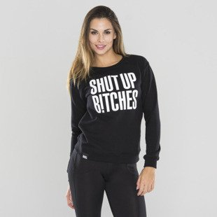 Saint Mass bluza crewneck Shut Up black
