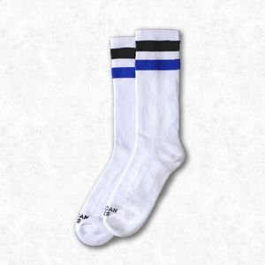 Skarpety American Socks Prankster  white / black - blue Mid High