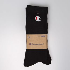 Skarpety Champion 3 Pack Crew Socks black