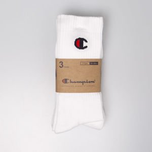 Skarpety Champion 3 Pack Crew Socks white