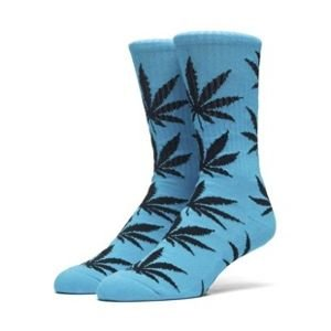 Skarpety HUF Highlighter Plantlife Crew Sock neon blue