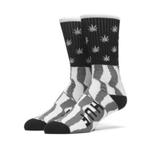 Skarpety HUF Legalize Freedoom Crew Sock grey / white