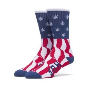 Skarpety HUF Legalize Freedoom Crew Sock red / white / blue