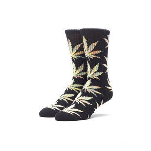 Skarpety HUF Melange Plantlife Crew Sock black / red