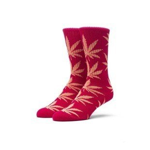 Skarpety HUF Melange Plantlife Crew Sock red / heather red