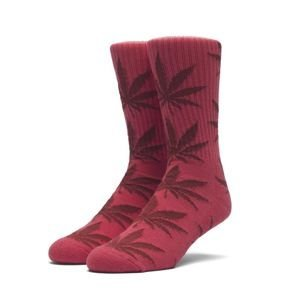 Skarpety HUF Plantlife Crew Sock red / dark red