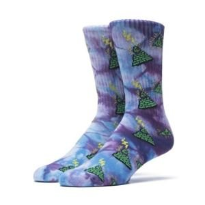 Skarpety HUF Pyramid Eye Crew Sock purple