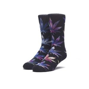 Skarpety HUF Tiedye Leaves Plantlife black