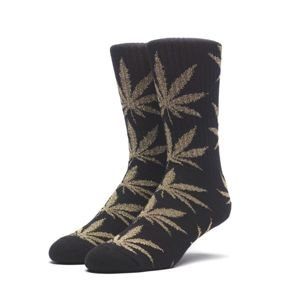 Skarpety HUF Tinsel Plantlife Sock black / gold
