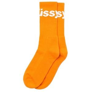 Skarpety Stussy Jacquard Logo Socks orange