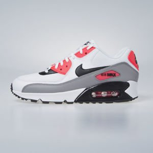 Sneakers Buty damskie Nike WMNS Air Max 90 white / black - dust - solar red 325213-132
